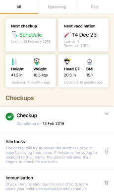 Checkup Planner Screen